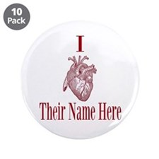 "I Heart You 3.5"" Button (10 pack)"