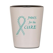 tile_paw4cure_teal Shot Glass