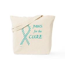 trp_paw4cure_teal Tote Bag