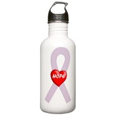 Orchid Hope Heart Water Bottle