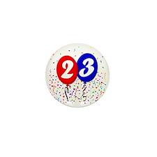 23bdayballoon Mini Button