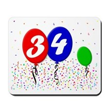 34bdayballoon3x4 Mousepad