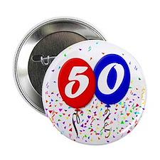 """50bdayballoon 2.25"""" Button"""