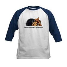 Yorkie Being Adorable Baseball Jersey