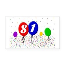 81bdayballoon2x3 Rectangle Car Magnet