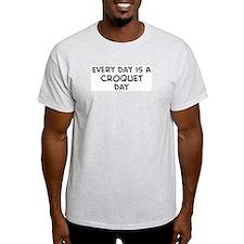 Croquet day Ash Grey T-Shirt