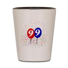 99bdayballoonbtn Shot Glass