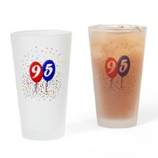 95bdayballoonbtn Drinking Glass