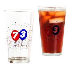 73_bdayballoonbtn Drinking Glass