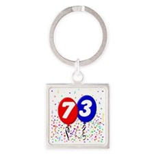 73_bdayballoon Square Keychain