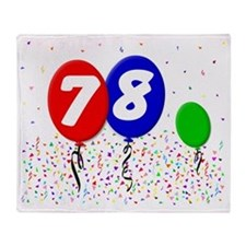 78_bdayballoon3x4 Throw Blanket