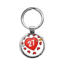 27ahrts Round Keychain