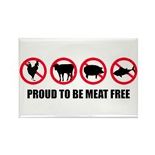 Proud To Be Meat Free | Rectangle Magnet (100 pack