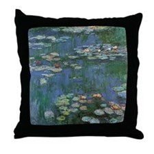 Waterlilies by Claude Monet Throw Pillow