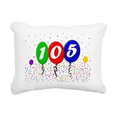 105th Birthday Rectangular Canvas Pillow