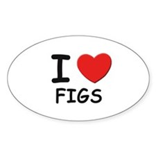 I love figs Oval Decal
