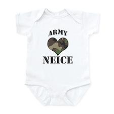 Neice: Camo Heart Infant Bodysuit