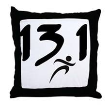 13.1 half-marathon Throw Pillow