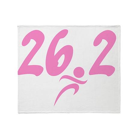 Pink 26.2 marathon Throw Blanket