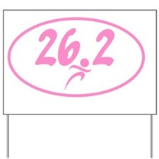 Pink 26.2 marathon Yard Sign