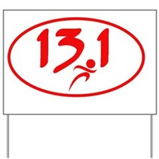 Red 13.1 half-marathon Yard Sign