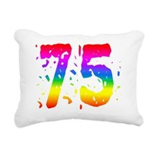 Confetti Rainbow 75 Rectangular Canvas Pillow