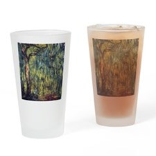 Weeping Willow by Claude Monet Drinking Glass