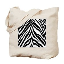 Zebra Skin Vertical Tote Bag