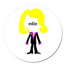 Edie with Pin Round Car Magnet
