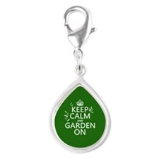 Keep Calm and Garden On Charms