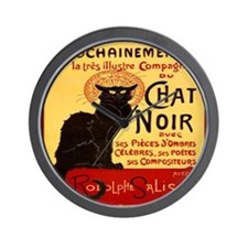 Le Chat Noir 3 Wall Clock