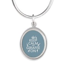 Keep Calm and Giraffe On Necklaces