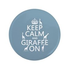 """Keep Calm and Giraffe On 3.5"""" Button (100 pack)"""