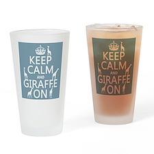 Keep Calm and Giraffe On Drinking Glass