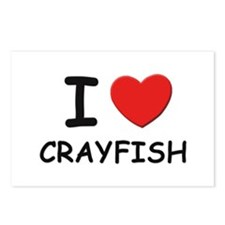 I love crayfish Postcards (Package of 8)