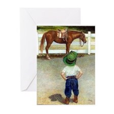 The Standoff Boy And Pony Greeting Cards (Pk of 20