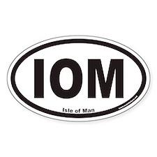 Isle of Man IOM Euro Oval Decal