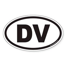 DV Euro Oval Decal