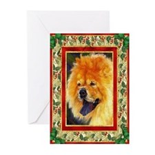 Chow Chow Dog Christmas Greeting Cards (Pk of 20)