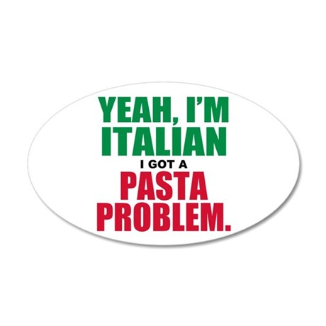 Italian Food 35x21 Oval Wall Decal
