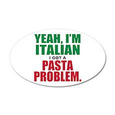 Italian Food 20x12 Oval Wall Decal