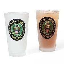 ArmyRetiredSeal.gif Drinking Glass