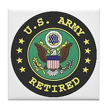 ArmyRetiredSeal.gif Tile Coaster