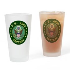 armyretiredsealgreen.gif Drinking Glass