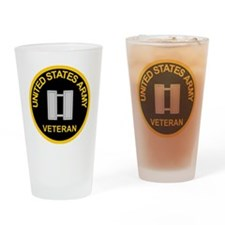 ArmyVeteranCaptainBlack.gif Drinking Glass