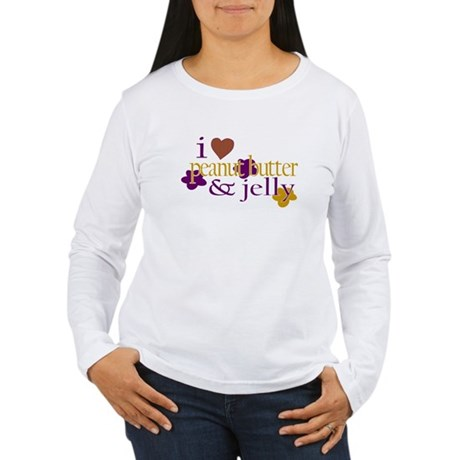 I Love Peanut Butter & Jelly Women's Long Sleeve