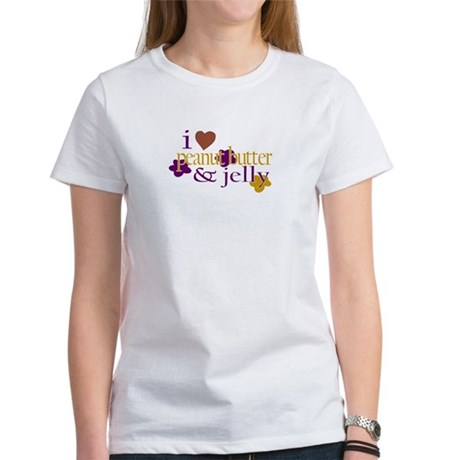 I Love Peanut Butter & Jelly Women's T-Shirt