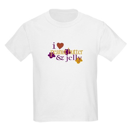 I Love Peanut Butter & Jelly Kids T-Shirt
