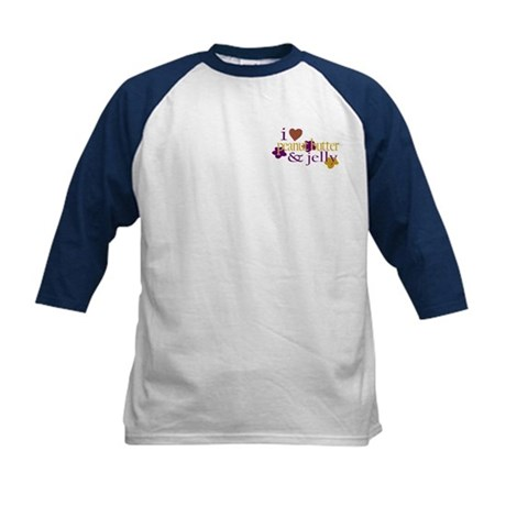 I Love Peanut Butter & Jelly Kids Baseball Jersey