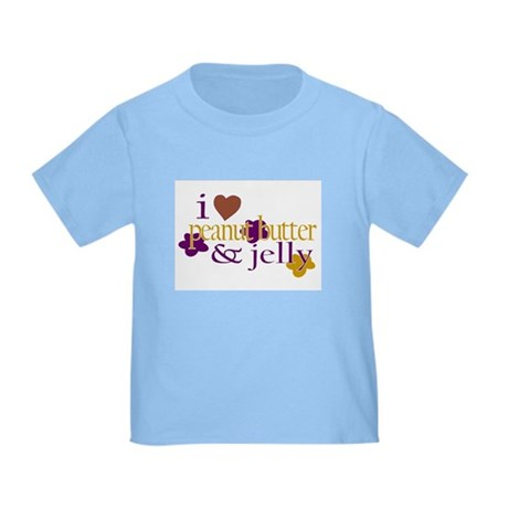 I Love Peanut Butter & Jelly Toddler T-Shi